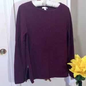 J. Jill Side zip sweater